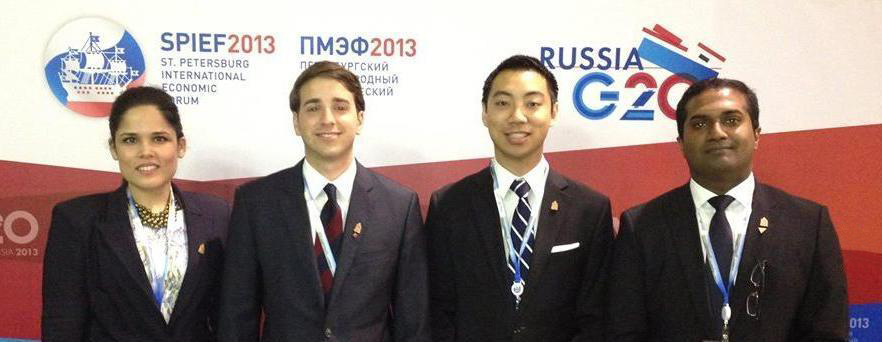 Kevin Vuong, DAN Management Alumni at the G20 Summit and SPIEF 2013