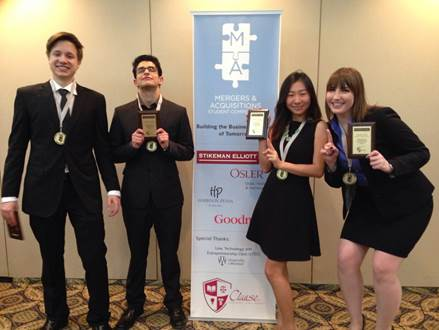 Hilary Tong and Team at the CLAUSE Competition.